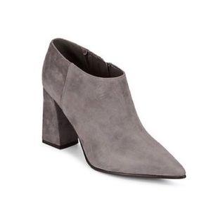 MARC FISHER | Jayla Suede Block Heel Ankle Boots